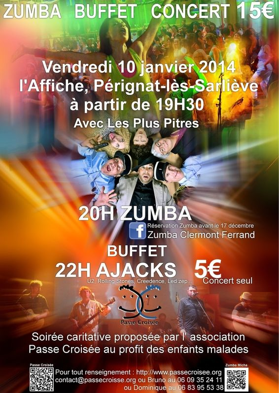 Affiche Zumba concert par Passe Croisée le 10/01/2014